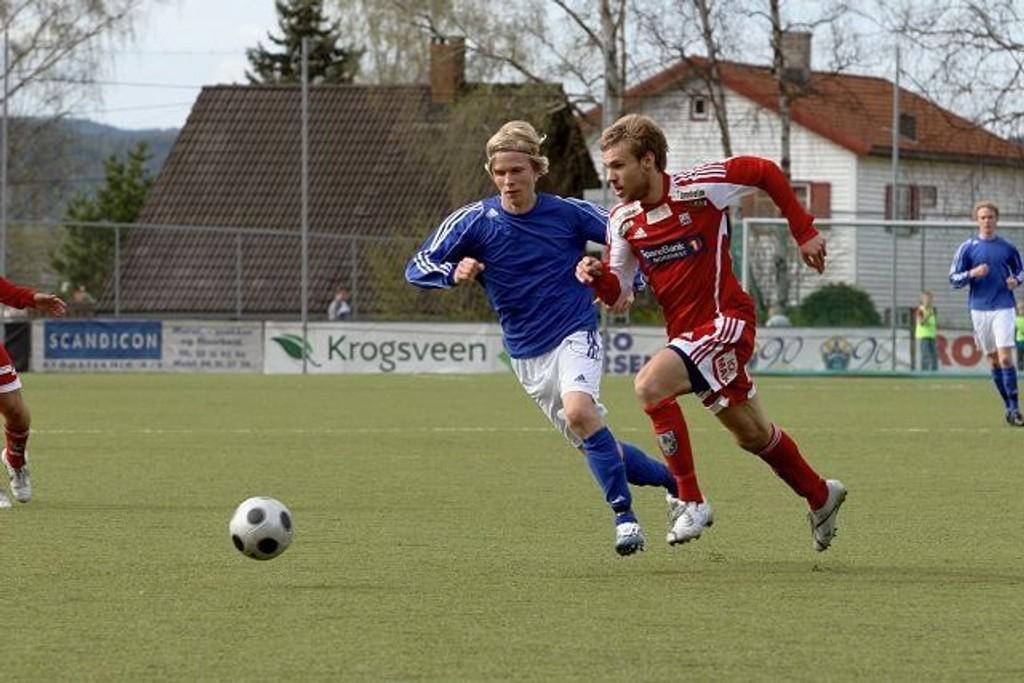 Julian Møller (20) har store ambisjoner som Kjelsåsspiller, men i kampen mot serieleder Kristiansund klarte han ikke å markere seg så mye som han ønsket. 1-1 var et greit resultat i en kamp med en del sjansesløseri.