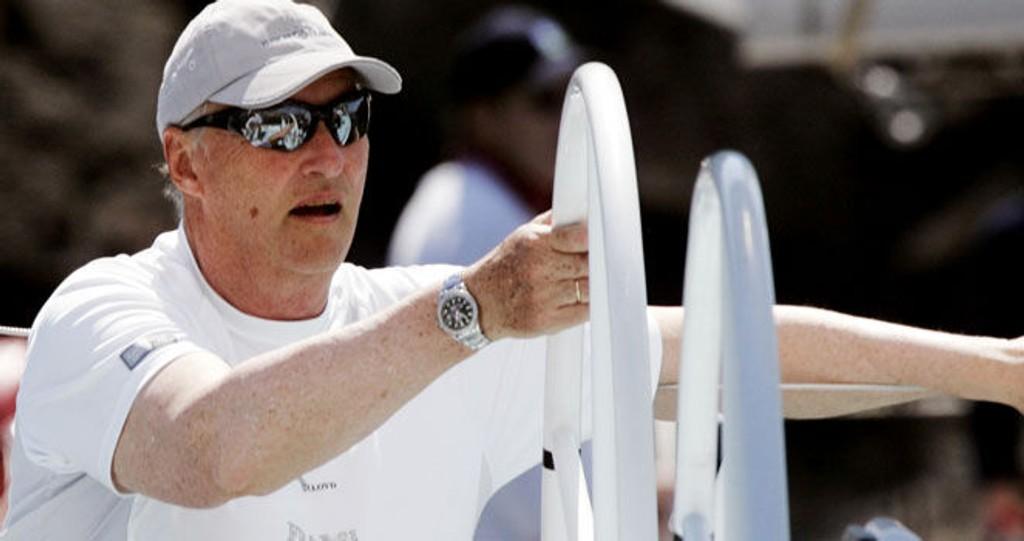 VM: Kong Harald er med i VM for 8-metere som foregår på Hankø denne uken i forbindelse med Kongelig Norsk Seilforbunds 125 årsjubiluem. Dette bildet er fra Færderseilasen i fjor.