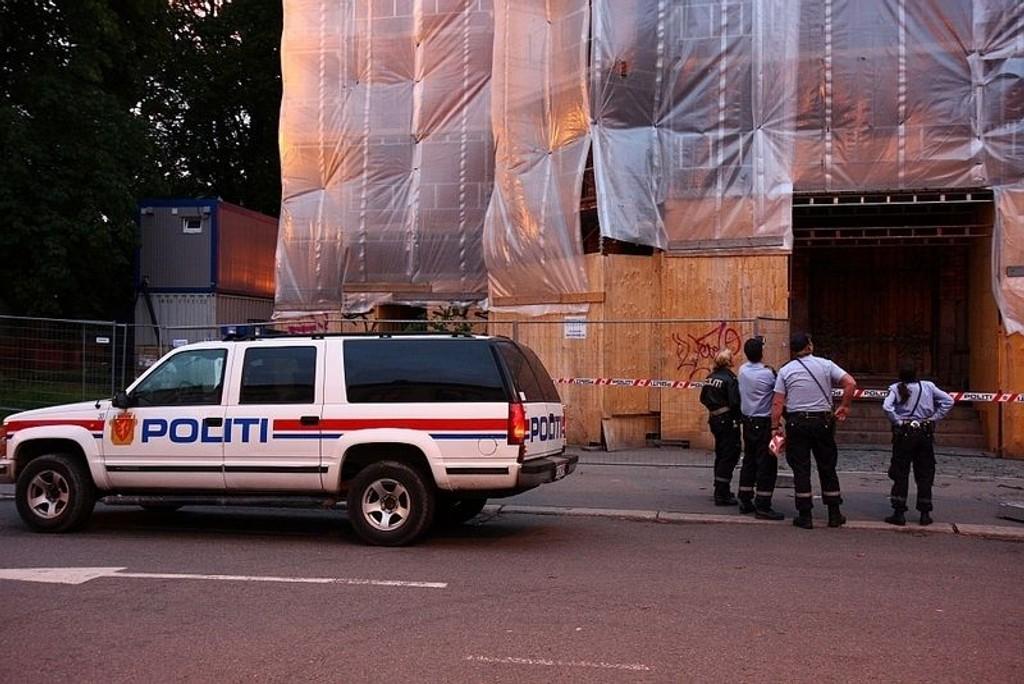 Politiet var raskt på stedet etter ulykken.