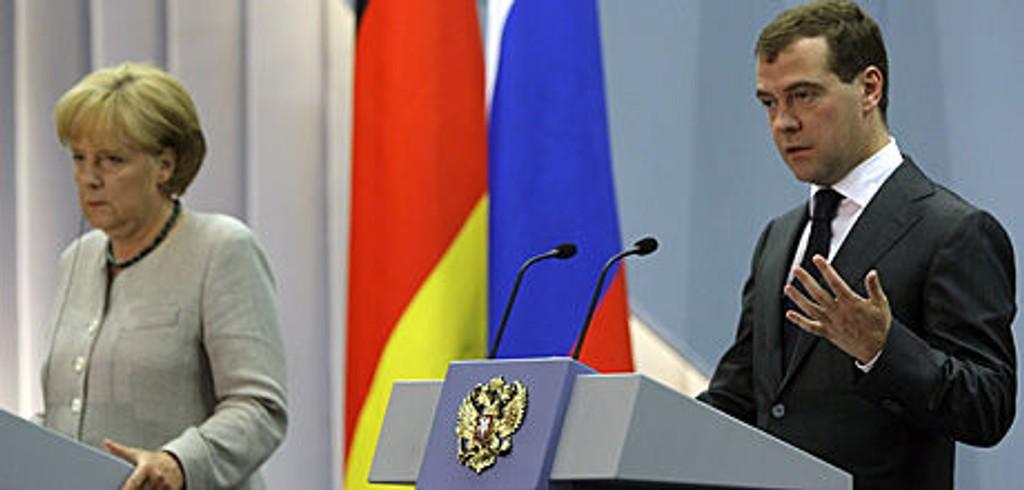 Medvedev og Merkel i Sotsji