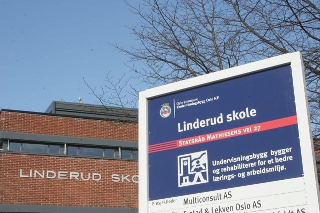 Linderud skole er en av skolene i Groruddalen som nå får oppgradert uteområdet.
