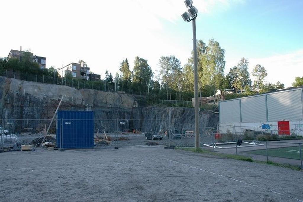 På denne byggeplassen kommer det som skal bli den Hemings nye stolthet. foto: alexander Synstad