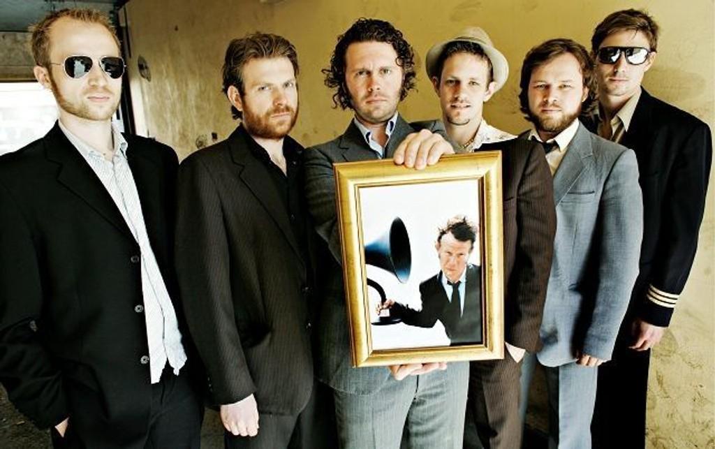 Fredag spiller Blow gratis på Shamrock. Her representert ved halvparten av bandet. FOTO: SVEINUNG UDDU YSTAD
