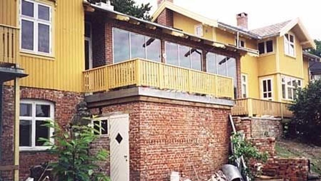 Dette økologiske huset på Lilleaker er blant bygningene som åpnes for publikum i helgen.