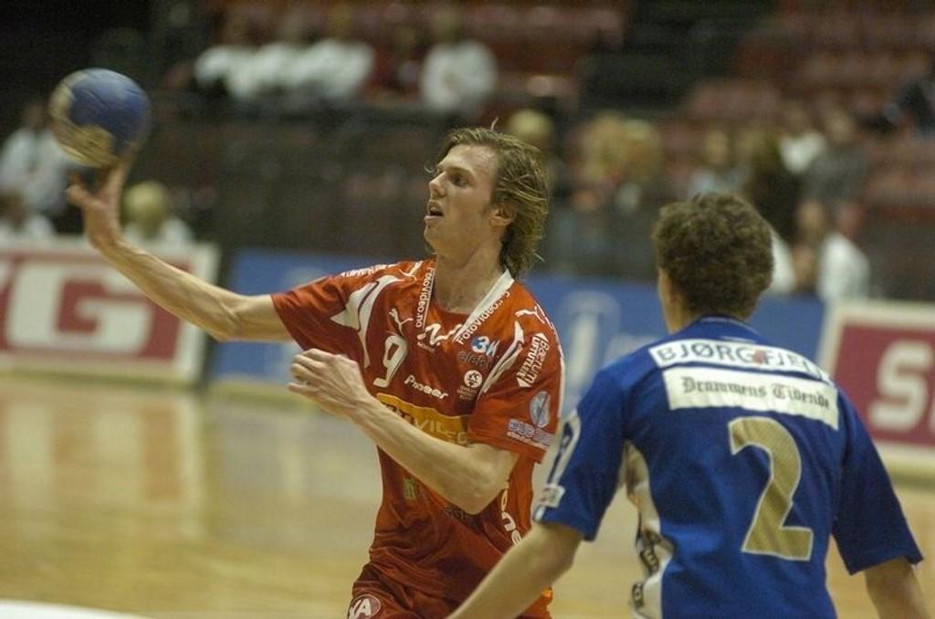Proffliv: Nicolay Hauge var med i troppen, men spilte ikke da Magdeburg tapte for Kiel. (Arkivfoto)