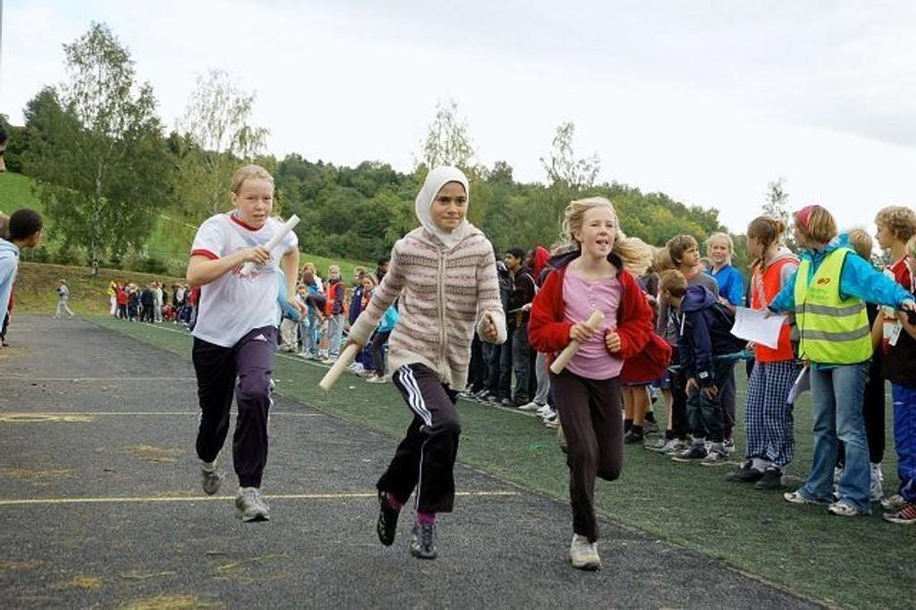 1450 elever fra hele Oslo deltok under tirsdagens Årvollia rundt.