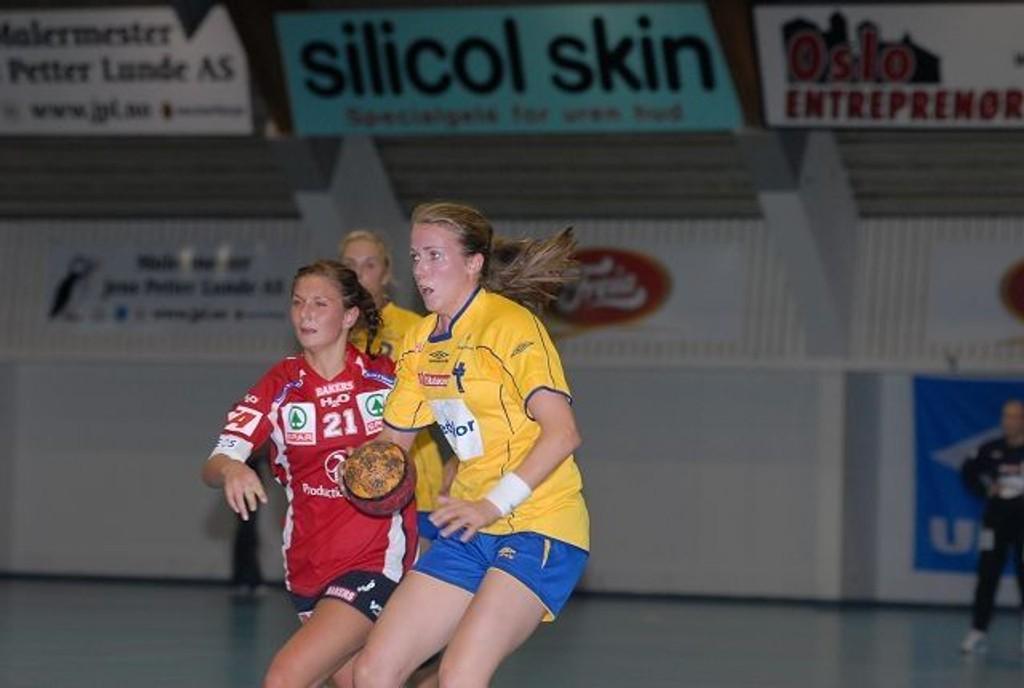 Charlotte Mordal storspilte i serieåpningen mot Gjerpen i Ekeberghallen.