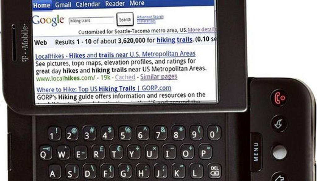 LANSERT: Android-telefon, T-mobile G1.