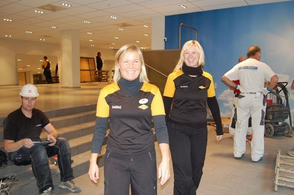 Daglig leder Anja HAgen og treningsansvarlig Threse Johansen.