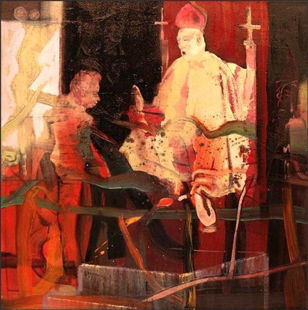 Kunstner Peter Esdaile «Study of Bacon´s Audience», olje på lerret.