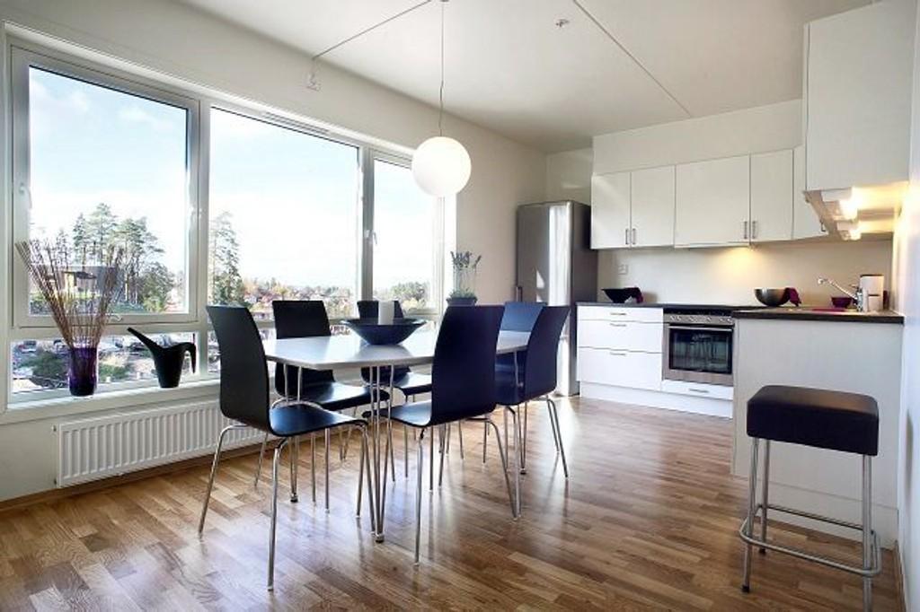 En slik leilighet kan du nå kjøpe med garanti om å få hevet kjøpet dersom du ikke får solgt din gamle bolig. Foto: Tore Røyneland