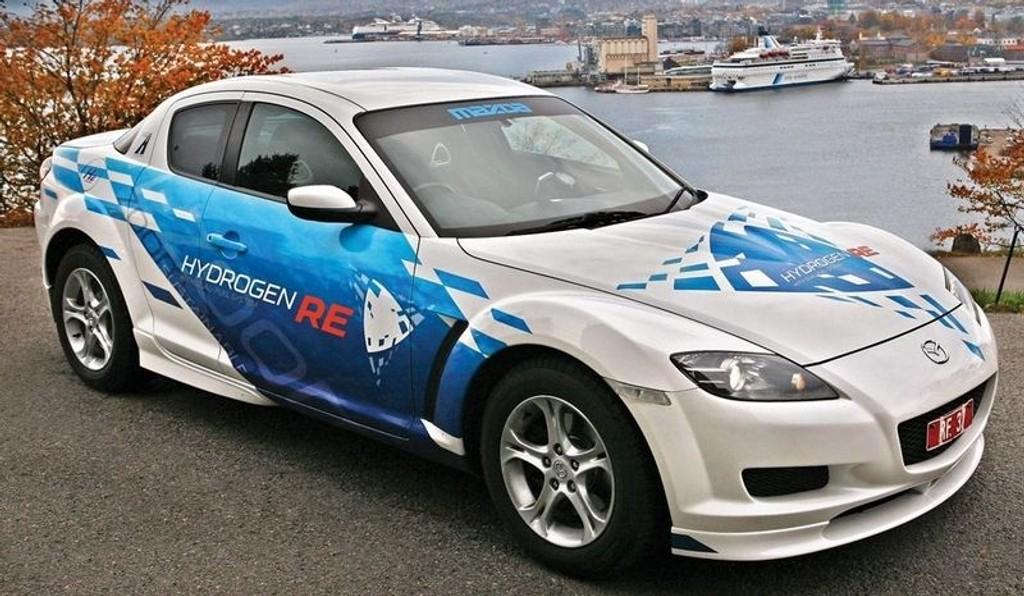 Mazda RX8 - klargjort for hydrogenveien.