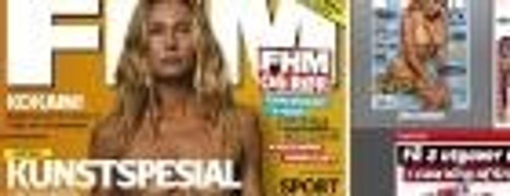 Marianne Aulie stiller naken i FHM