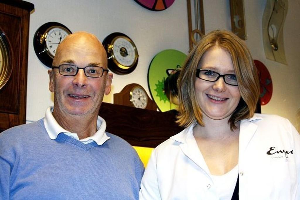 Ida Enger tok over for Dag Enger i 2004. Butikken er i trygge hender, sier Dag.