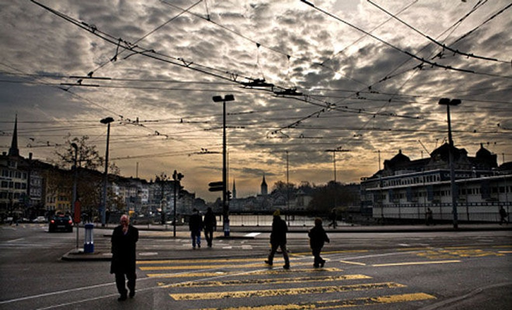 ROLIG: Tilstandene i Zürich liknet på det vi ser i Oslo, med at de narkomane ble jaget fra plass til plass. Slik er det ikke lenger.