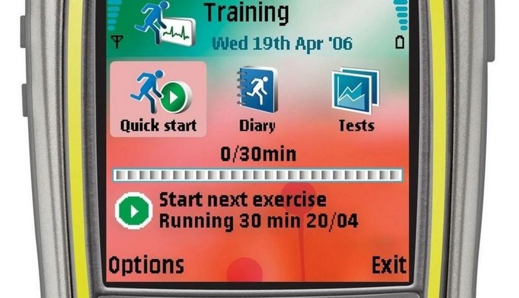 TRENE: Mobilen kan hjelp deg med å komme igang med treningen.