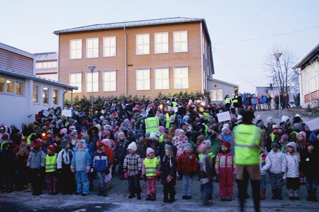 Det var litt færre elever der da skolen åpnet i 1859. Skolen er nå en av de eldste i Oslo