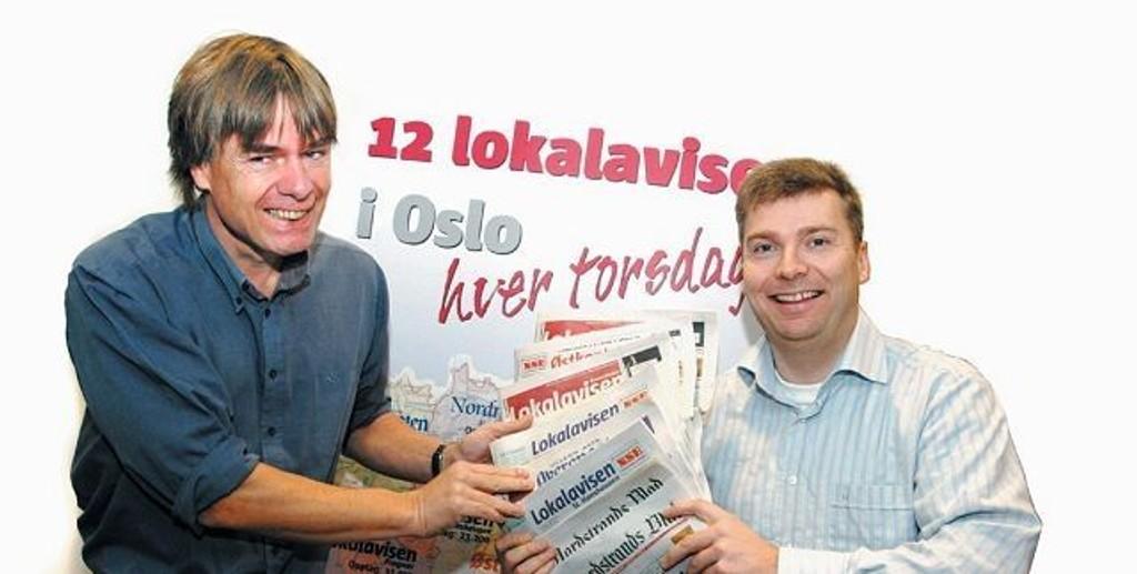 Ansvarlige redaktører i Lokalavisene Oslo AS, Ivar Brynildsen (t.v) og Tore Bollingmo, ser frem til stort engasjement i kåringen av Årets Navn 2008 i Bydel Ullern.