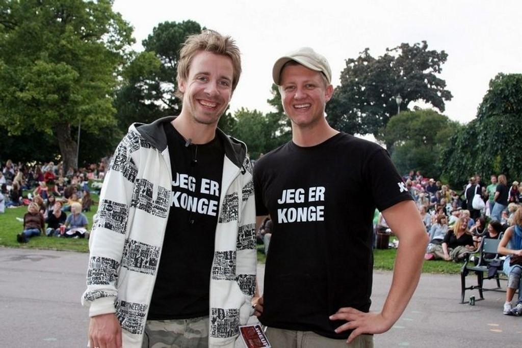 Festivalarrangørene Lars Tefre Baade og Atle Borgeteien.