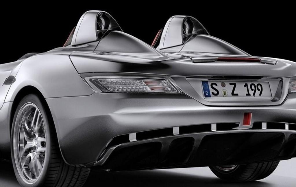 SLR: Den vanvittige SLR-modellen har fått navn etter den legendariske Formel 1-sjårøren Stirling Moss.