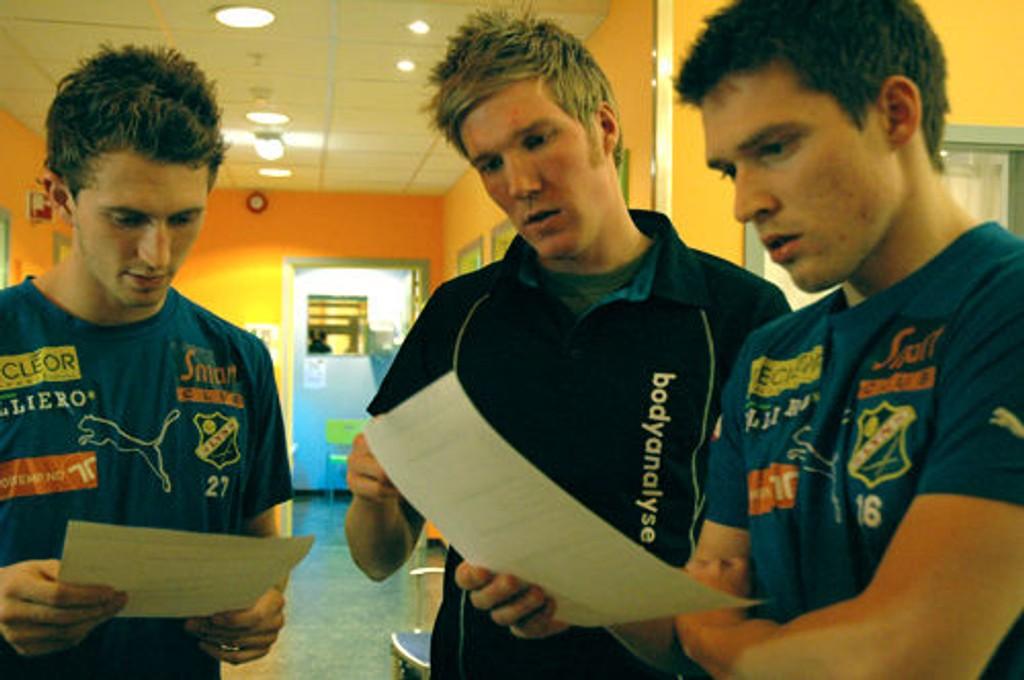 Magne Simonsen, Kristian Holteberget og Thomas Jacobsen. Foto: Linn Kongsli Lundervold