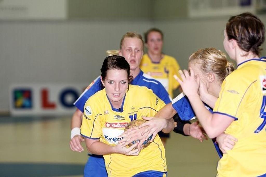 BSK slet med å holde følge med Njård, og tapte til slutt med elleve mål, 31-20.
