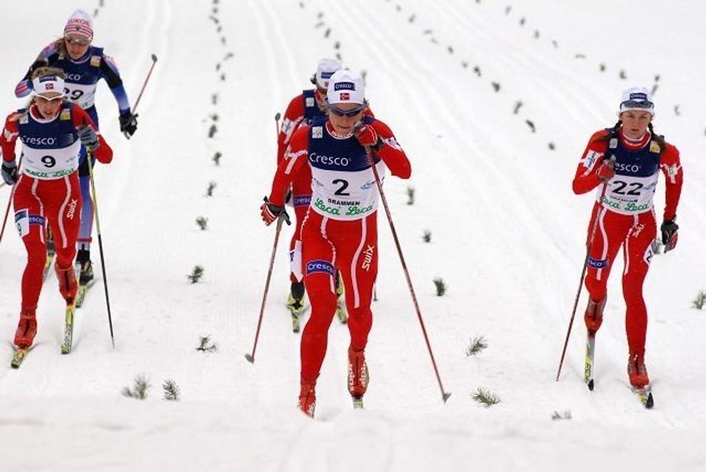 Raskest: Astrid Uhrenholdt Jacobsen fra Heming var suveren på 10 km klassisk i NM.