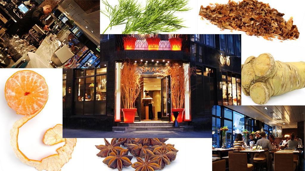 LEKEN MENY: Smaken av dill, appelsin, pepperrot, anis og tobakk var noe av det Kniv og Gaffel fikk oppleve på besøket hos restauranten «Smaken av Oro».