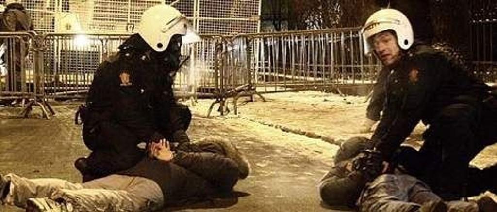 194 personer ble pågrepet etter opptøyene i Oslo sentrum.