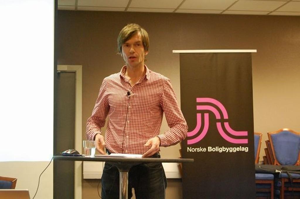 SOSIOLOGI: Kjetil Rollness snakket på konferansen om ungdom og bolig i hovedstaden, forrige uke.