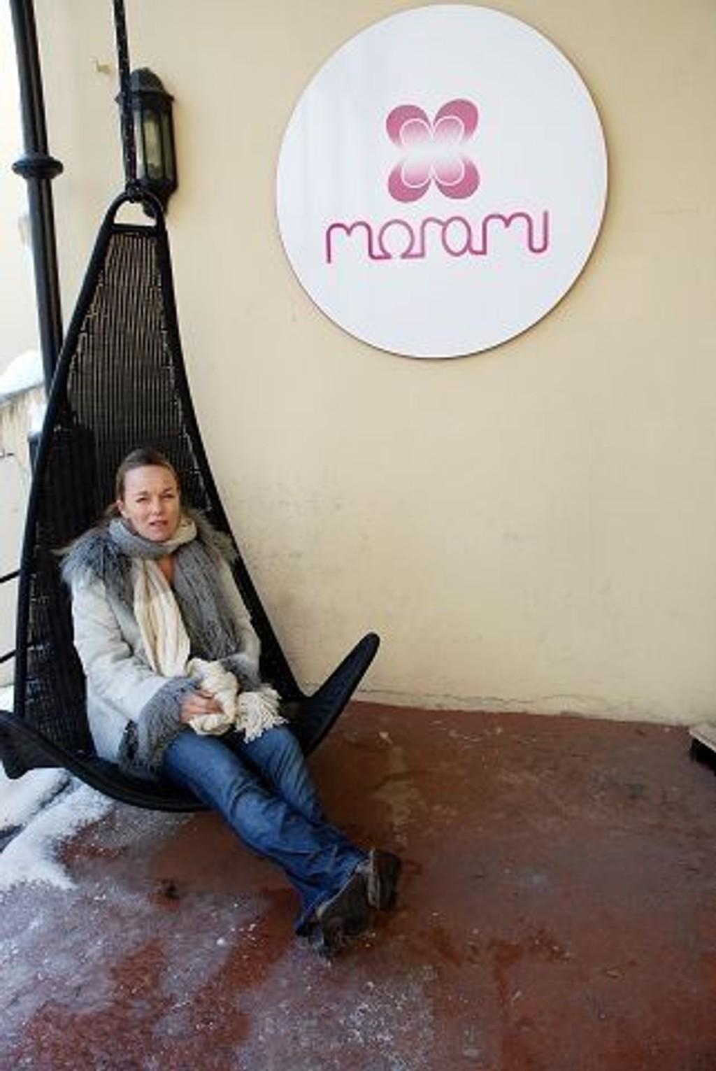 Siri Semb Baumann, kvinnen bak klesmerket Morami, i lokalene i Hegdehaugsveien. FOTO ERIK TANGEN