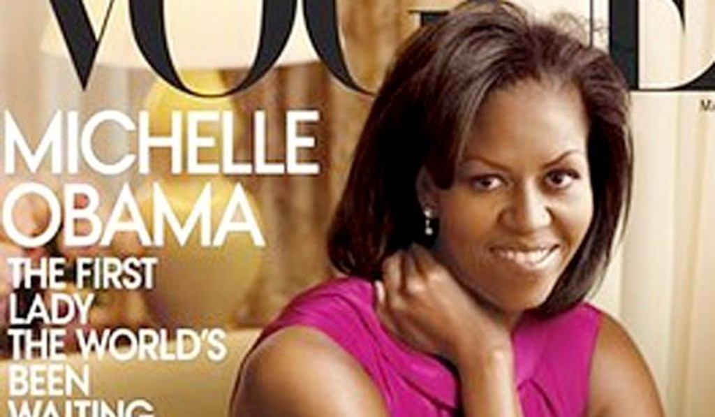 Michelle Obama kommer på forsiden av motemagasinet Vogue i mars.