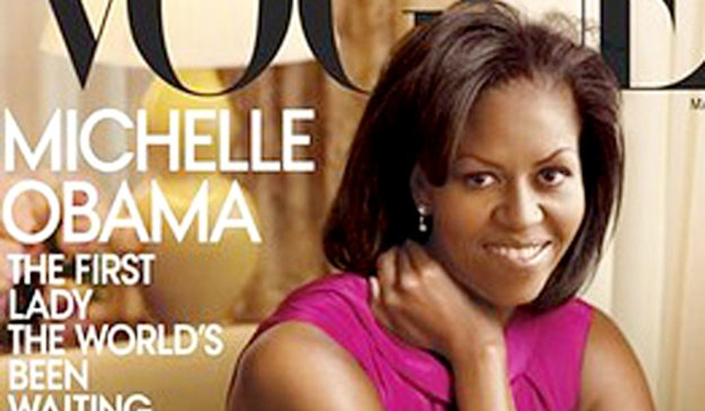 COVERGIRL: Michelle Obama kommer på forsiden av motemagasinet Vogue i mars.