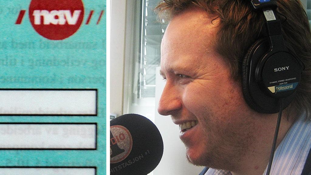 OVERRASKET: Lars Petter Berg fikk vennlige, men ganske gale svar fra NAV-ansatte om hva NAV faktisk står for.