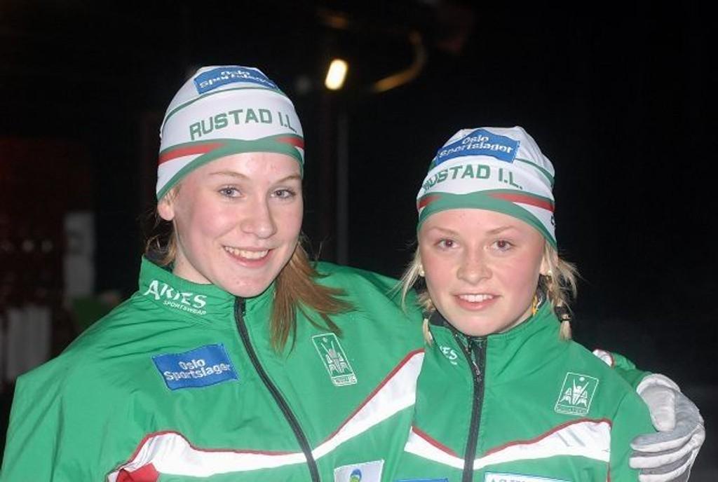 Oda Solvoll (t.v.) og Tonje Myrvoll sikret Rustad seieren i 15-16-årsklassen.