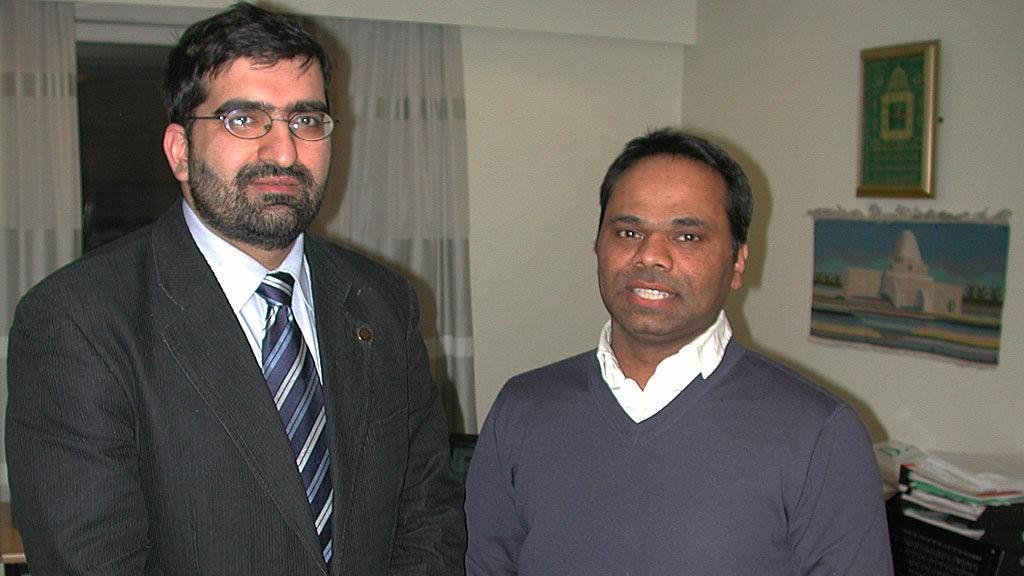 Generalsekretør Shoaib Mohammed Sultan (t.v.) og nestleder Ashgar Ali i Islamsk Råd Norge.