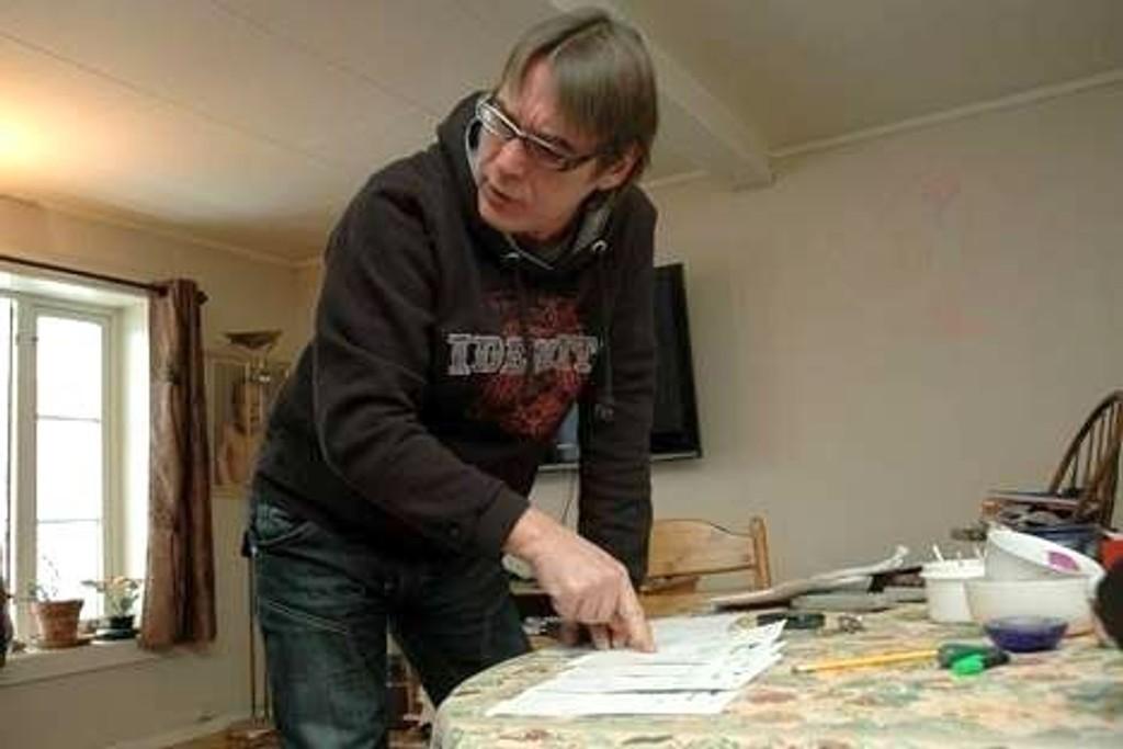Geir Westbye har fått livet ødelagt av NAV. Foto: Karl Andreas Kjelstrup