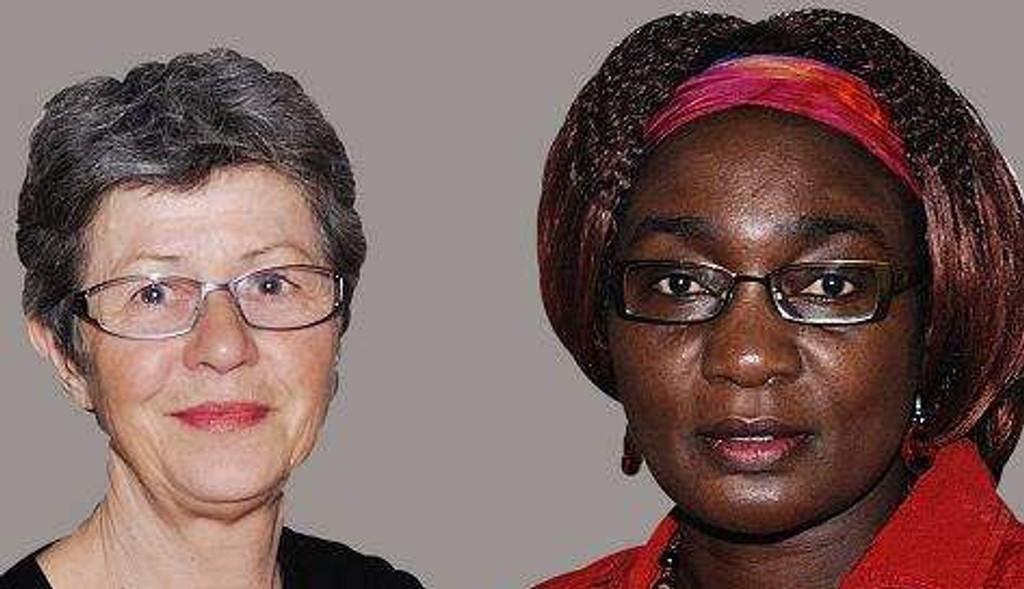 Maren Rismyhr og Victoria Rweikiza