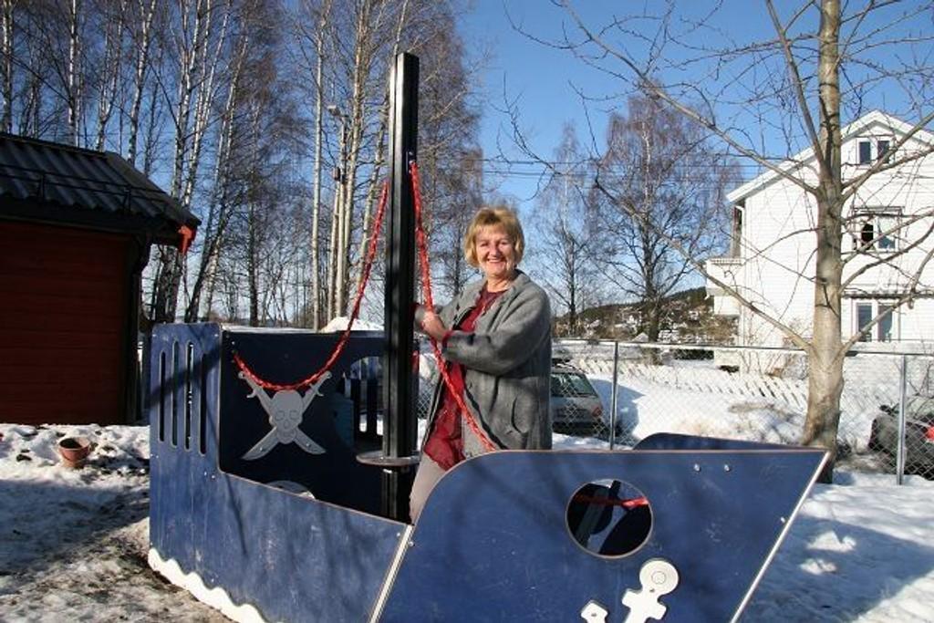 SVs Lill Pleym er fornøyd med at lokalpolitkernes fokus på nye barnehageplasser har plassert Nordre Aker på topp av «barnehageplass-statistikken». Foto: Kristin Tufte Haga