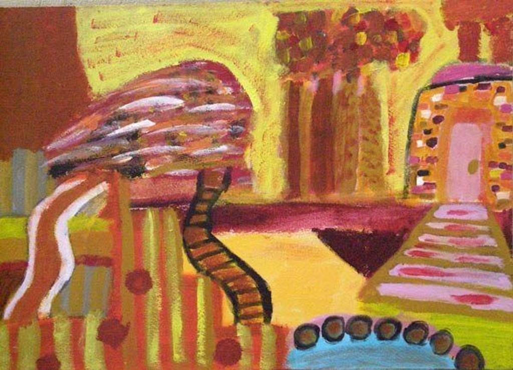 Med dette maleriet gikk Anna Elisabeth Waagaard Keane av med seieren. foto: utlånt
