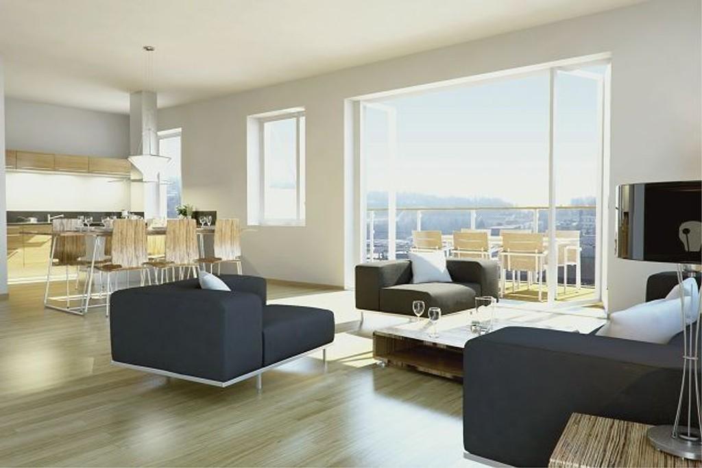 Boligkjøp utgjør en stor investering og Høyre vil sikre rettigheter. Bildet viser en leilighet i Maridalsporten. ILLUSTRASJONSFOTO: Optimo