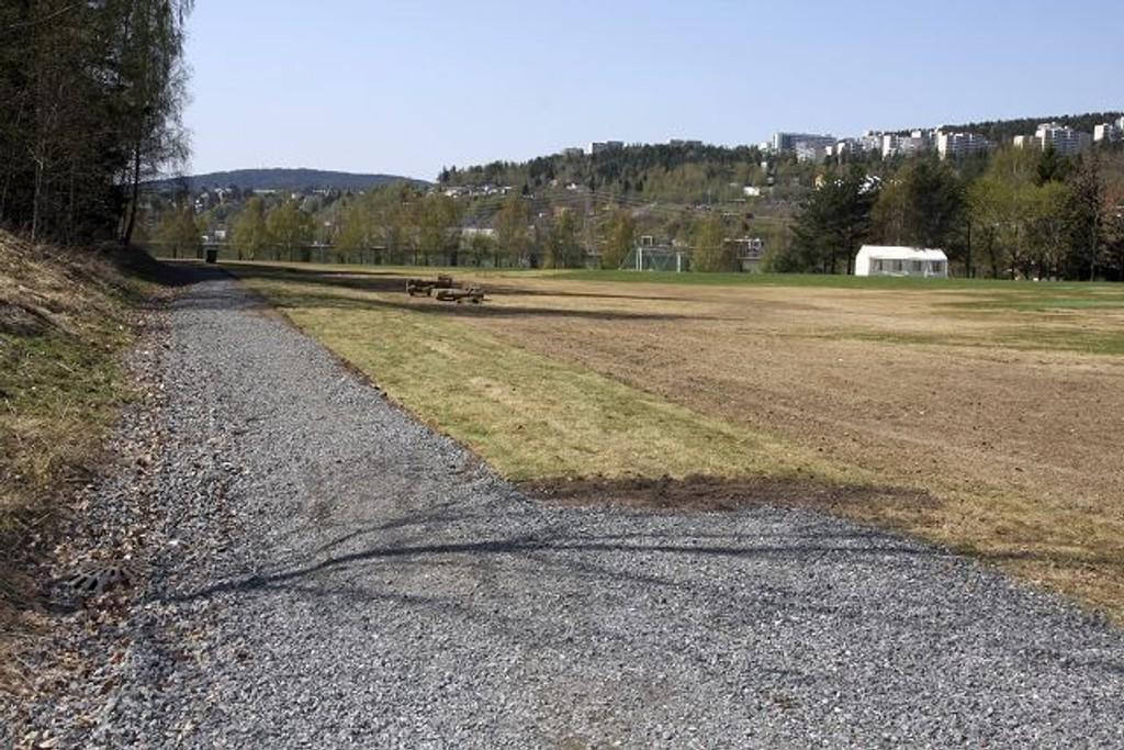 Gresset som ble lagt over turveien for å utvide cricketbanen blir fjernet i dag.