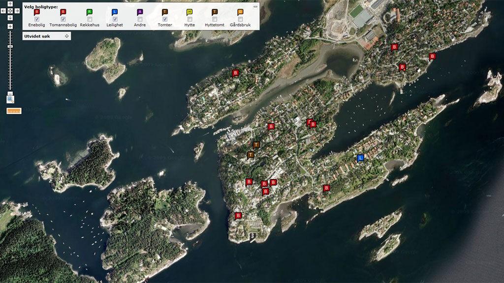 På Boliga.no kan du se nøyaktig beliggenhet av eiendommen når du er på boligjakt.