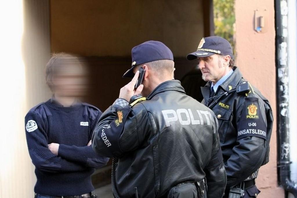 Politiet med vandelskontroll av vektere. (Bildet har ingenting med saken å gjøre)