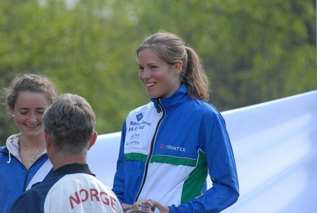 Britt Ingunn Nydal hadde mye å smile for i Østmarka i helga.