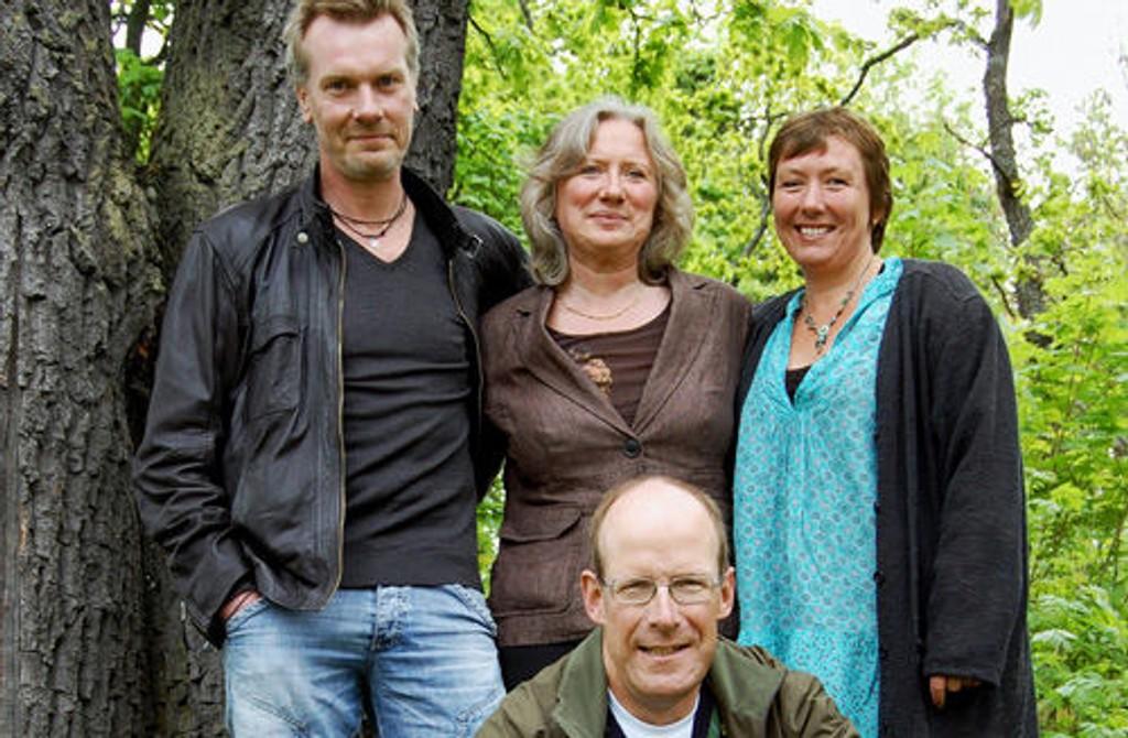 Trond Bjørnerud, Elke Edelmann, Nina Furvald og Fredrik Schiørn ser frem til seminar og tettere samarbeid. FOTO: ELLEN RØNNING.