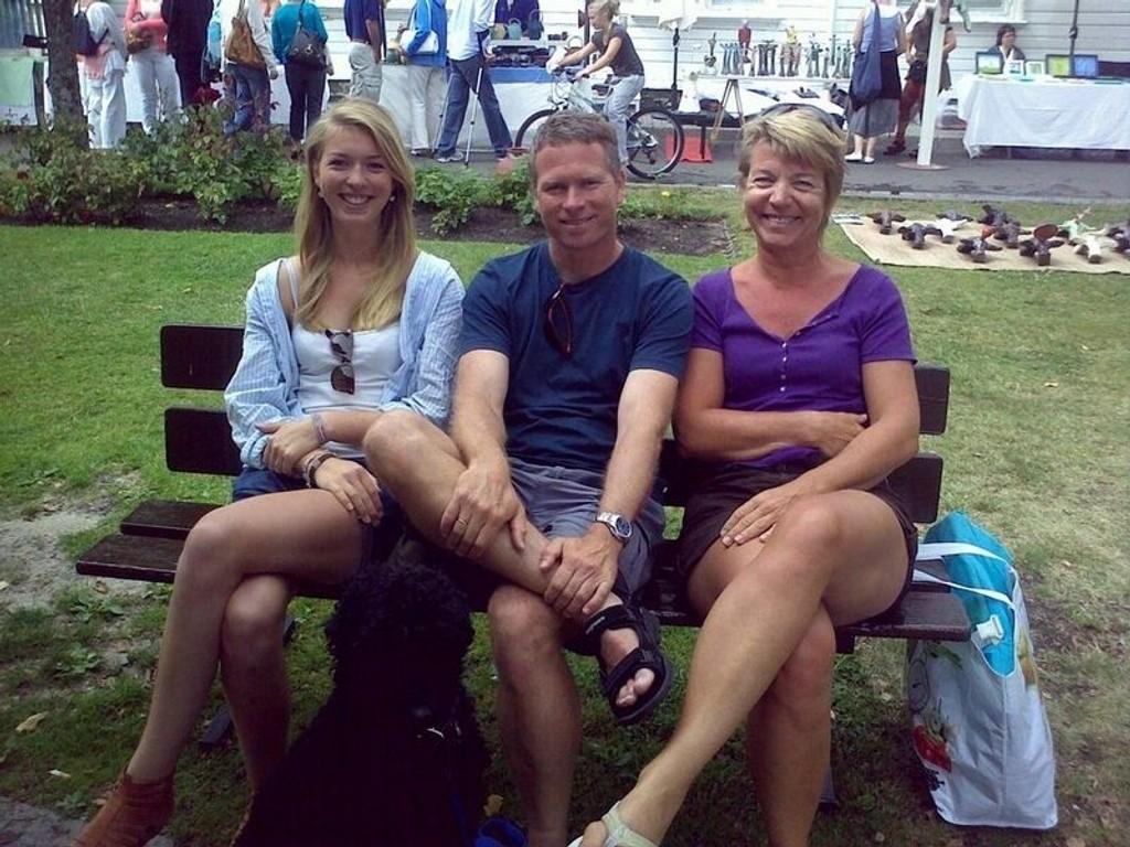 Familien Foyn Spurkland på ferie i Risør.