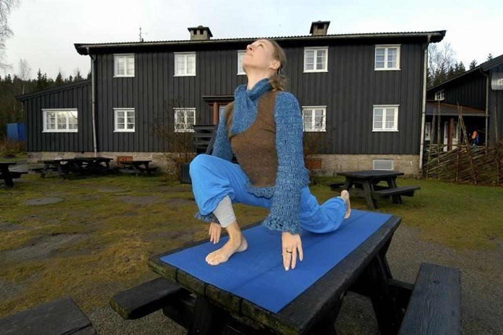 Yoga ved Kikutstua er noe Elisabeth Lyseng har stor tro på.
