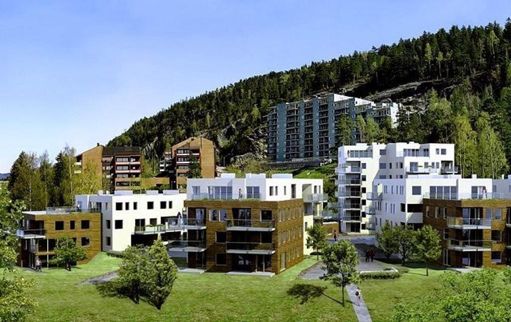 Langt færre nye boliger ble ferdigstilt i Oslo i 2008 enn året før. Her fra prosjektet Grefsenlyst. ILLUSTRASJON