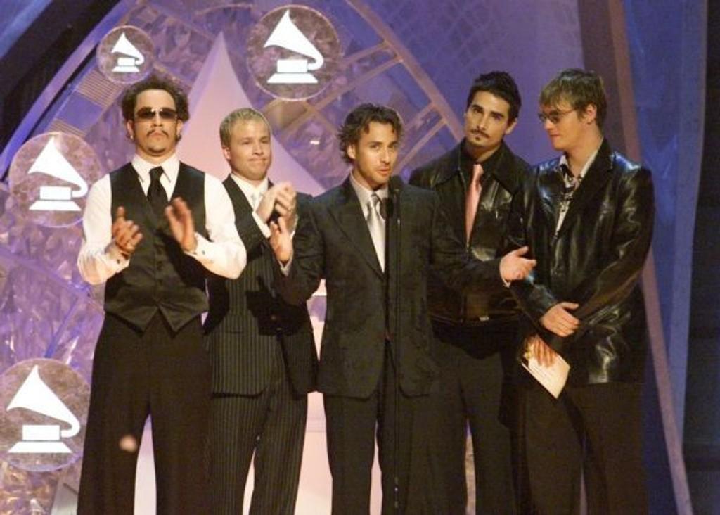 Backstreet Boys til Oslo 5.desember. Her fra Grammy utdelingen i 2002